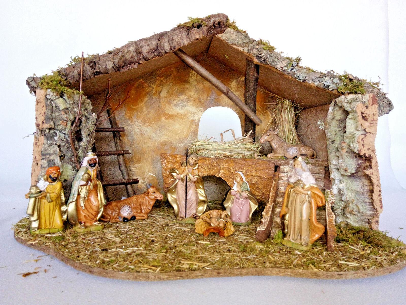 Bethléem Crèche Heiligabend Weinachtskrippen avec Figurines Naissance de Christ