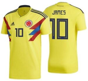 premium selection a7926 b73c3 Details about ADIDAS JAMES RODRIGUEZ COLOMBIA HOME JERSEY WORLD CUP 2018.
