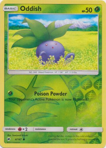 Reverse Holo NM-Mint Burning Shadows 4//147 Common Pokemon Oddish