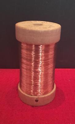 COPPER WIRE EACH SPOOL 516FT.GENUINE SOLID  COPPER SOFT 22 GA 2 X 1 LB