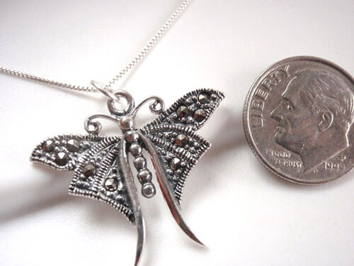 Marcassite Papillon Pendentif Argent Sterling 925 Corona Sun Jewelry