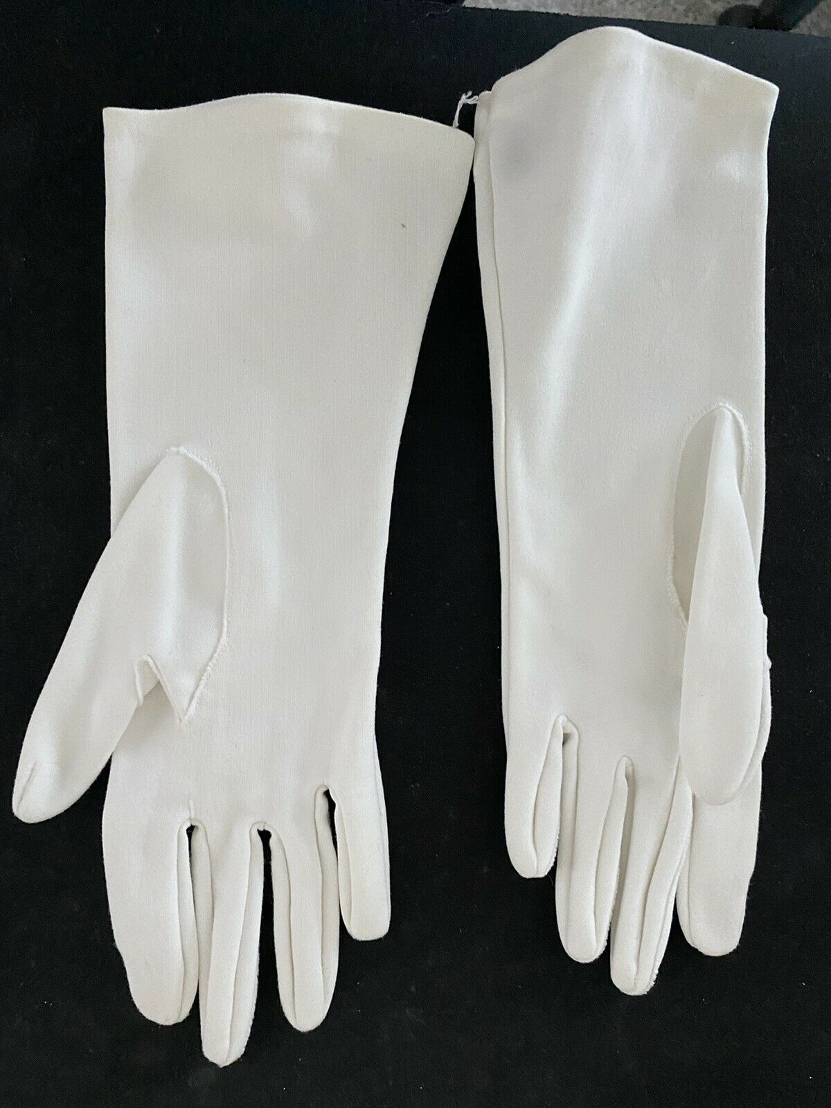 Vintage White Stretch Nylon Evening Gloves with embroidery one size philippines