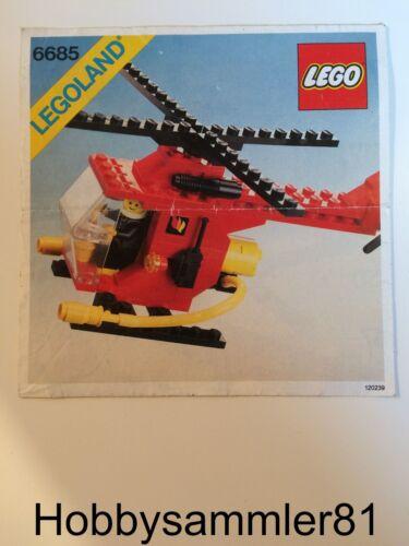 Lego® 6685 Legoland Town Bauanleitung Feuerwehrhubschrauber