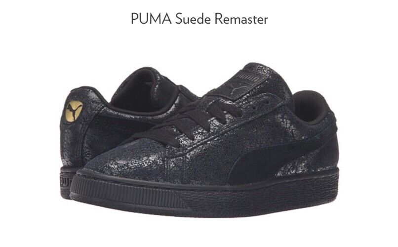 NEW Puma Classic Suede Remaster Distressed Sneakers Size 9 Black