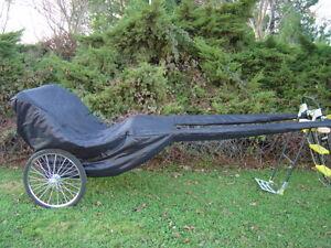 New Easy Entry Horse Cart Cover For Full Horse cart-BIN