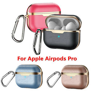 Custodia-Protettiva-Per-Airpods-Pro-Earbuds-Case-Electroplate-PU-Leather-Cover