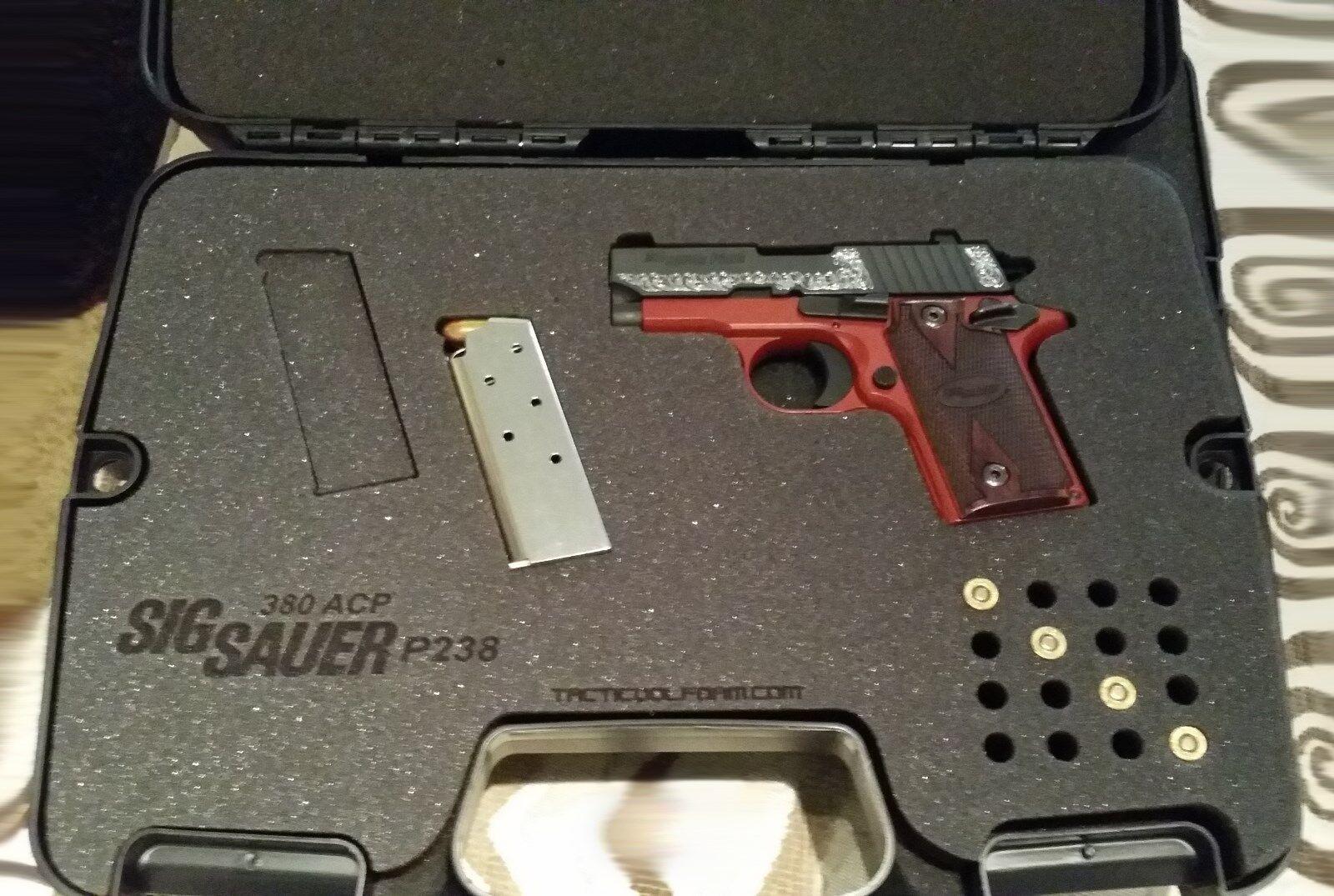 Caso personalizado para Sig Sauer pistola P238 (.380) - Insertos De Corte Láser Ajuste perfecto