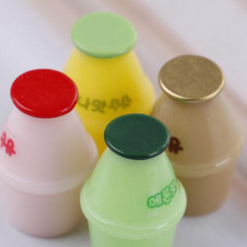 4PCS Dollhouse miniature toy milk bottle home decor scene XM
