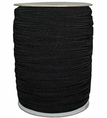HIGH QUALITY ELASTIC 1/2 INCH 12MM WIDE, AVAILABLE IN BLACK/WHITE & DIFF LENGTHS