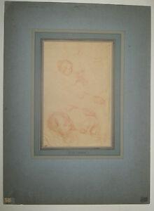 Eugene-CARRIERE-ENFANTS-au-biberon-DESSIN-original-a-la-SANGUINE-19eme