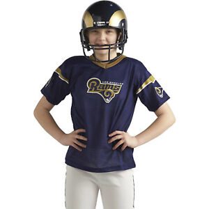 f8bfb3f9 Details about Kids Los Angeles Rams Costume Helmet NFL Football Youth  Sports Uniform Set M New