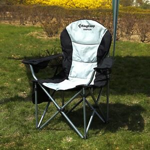 Image Is Loading KingCamp Heavy Duty Lumbar Support Folding Chair Camping