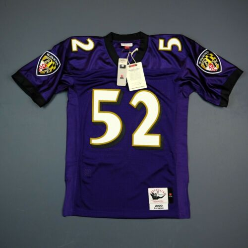100% Original Ray Lewis Mitchell & Ness Ravens NFL Maillot Taille Hommes 36 S S