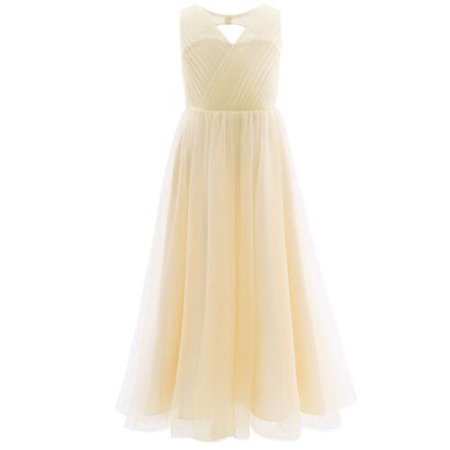 Flower Girl Dress Princess Short Puff Sleeves Lace Dress Wedding Birthday Party