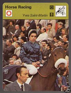 YVES-SAINT-MARTIN-Allez-France-Jockey-Horse-Racing-1978-SPORTSCASTER-CARD-26-06