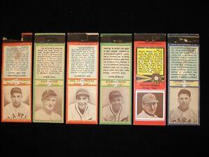 Menge 6 1934/35 Diamond Tascheninhalte-Hack, Fitzsimmons, Waner, Herman + 2 andere