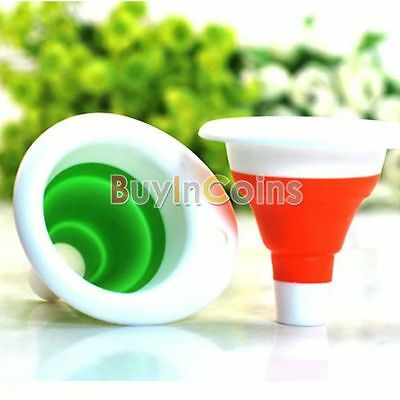 New Mini Silicone Gel Practical Foldable Funnel Cute Collapsible Style RT