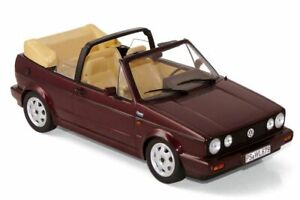 NOREV-188403-188404-188405-VW-GOLF-Mk1-CABRIO-model-road-cars-blue-red-1992-1-18