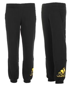 45bee5baf Image is loading Adidas-Boys-Tracksuit-Bottoms-Track-Jog-Pants-Fleece-