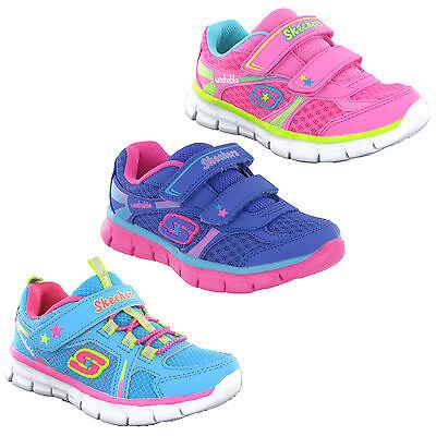 Skechers Lil Softy Neonate Bambine Memoria Schiuma Comfort Lavabili Scarpe | eBay