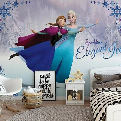 Paper wallpaper 254x184cm wall mural kids room Pink Balroom Princesses Disney