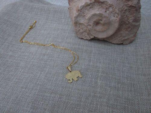 Cadena de acero inoxidable con remolque felicidad elefante cadena de acero inoxidable oro suerte me 229