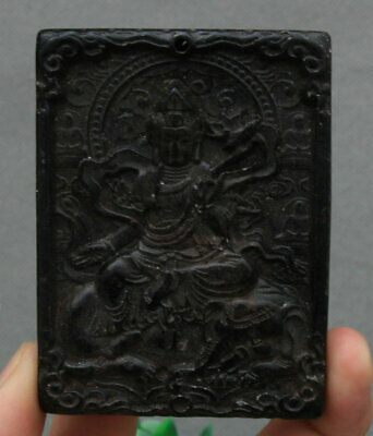 8CM Hongshan Culture Old Jade 1000 Arms Elephant Mammon Buddha Amulet Pendant