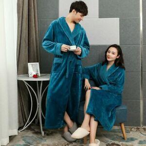 Men Satin Silk Long Sleeve Pajamas Kimono Bathrobe Robe Dressing Loungewear ACCS