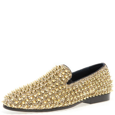 authentic factory authentic authorized site New J75 By Jump Luxor Gold Spike Studded Men's Slip Ons | eBay