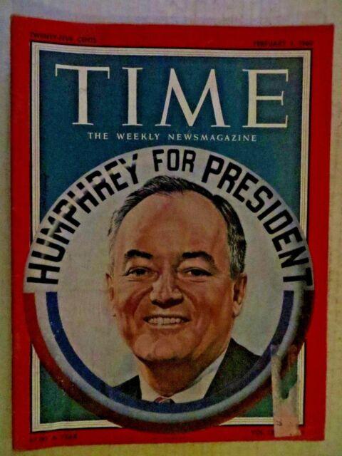 Time Magazine  February 1, 1960  Hubert Humphrey For President  VINTAGE ADS