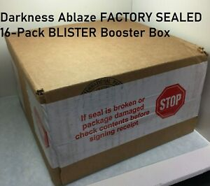Pokemon-Darkness-Ablaze-FACTORY-SEALED-16-Pack-BLISTER-Booster-Box-Promo-amp-Coin