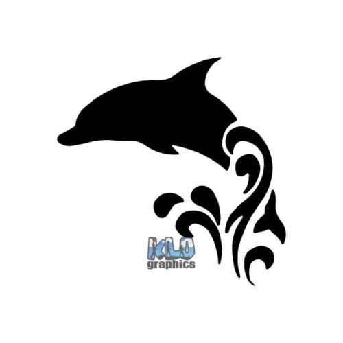 DOLPHIN vinyl sticker decal Ocean Diver Diving Deep Sea Waves Surfing Surf