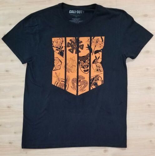 Call of Duty Black Ops Graphic T-Shirt Black Orang