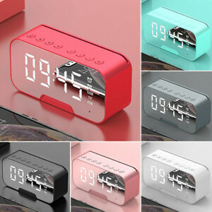 Best-Digital-Alarm-Clock-FM-Radio-Wireless-Mirror-LED-Clocks-With-Speaker-New