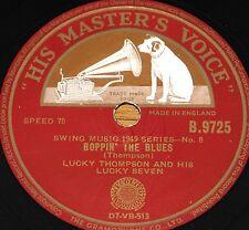 LUCKY THOMPSON ~ BOPPIN THE BLUES b/w JUST ONE MORE ~ UK HMV 78 RPM E+/E+ GRADE