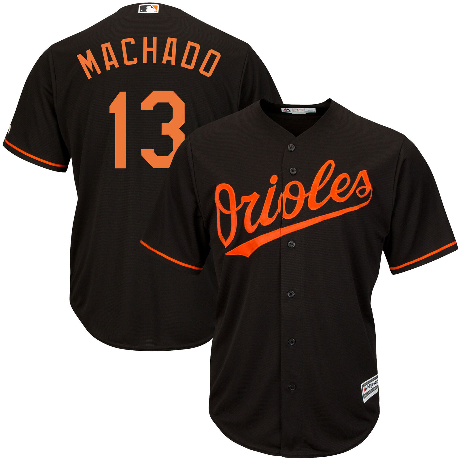 MLB Baltimore Orioles Majestic Replik Cool Base Wechsel Trikot Shirt Herren