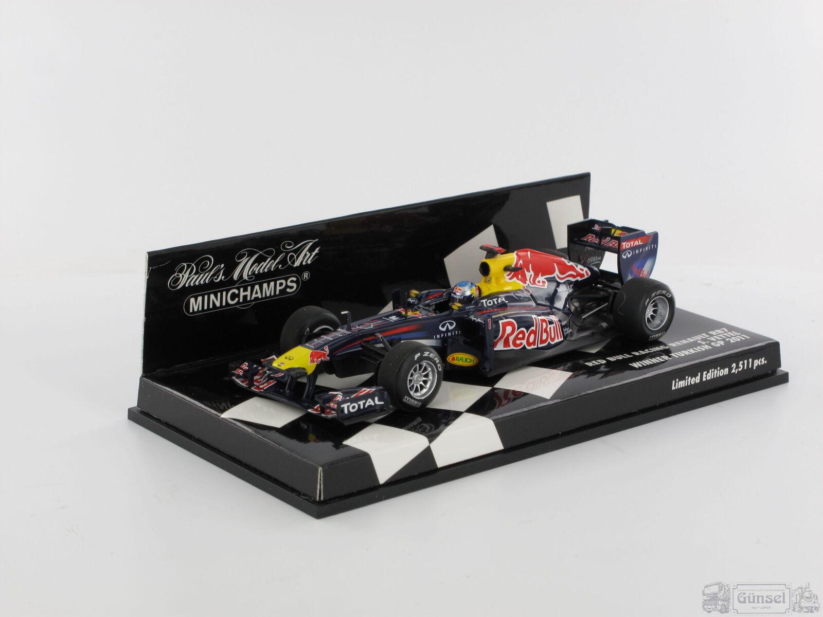 MINICHAMPS 410110201 rouge Bull Racing rb7-Sebastian ma GROSSE-Winner Turkey GP 2