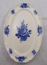 Villeroy & and Boch Strasbourg Bleu Rose platter 36cm