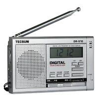 Tecsun Dr-910 Digital Fm, Mw, Sw World Band Radio Silver