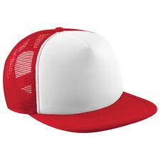 ec761f5d3e0 Half Mesh Contrast Retro Rapper Cap Flat Peak Snapback Men and Women  Printed Hat