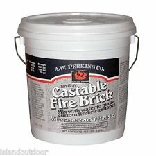 AW Perkins 240 Castable Fire Brick Refractory Cement 12.5 lb Dry mix clay