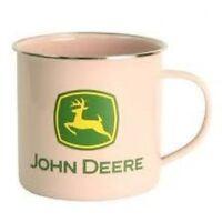 John Deere Pink Coffee Cup Mug Metal
