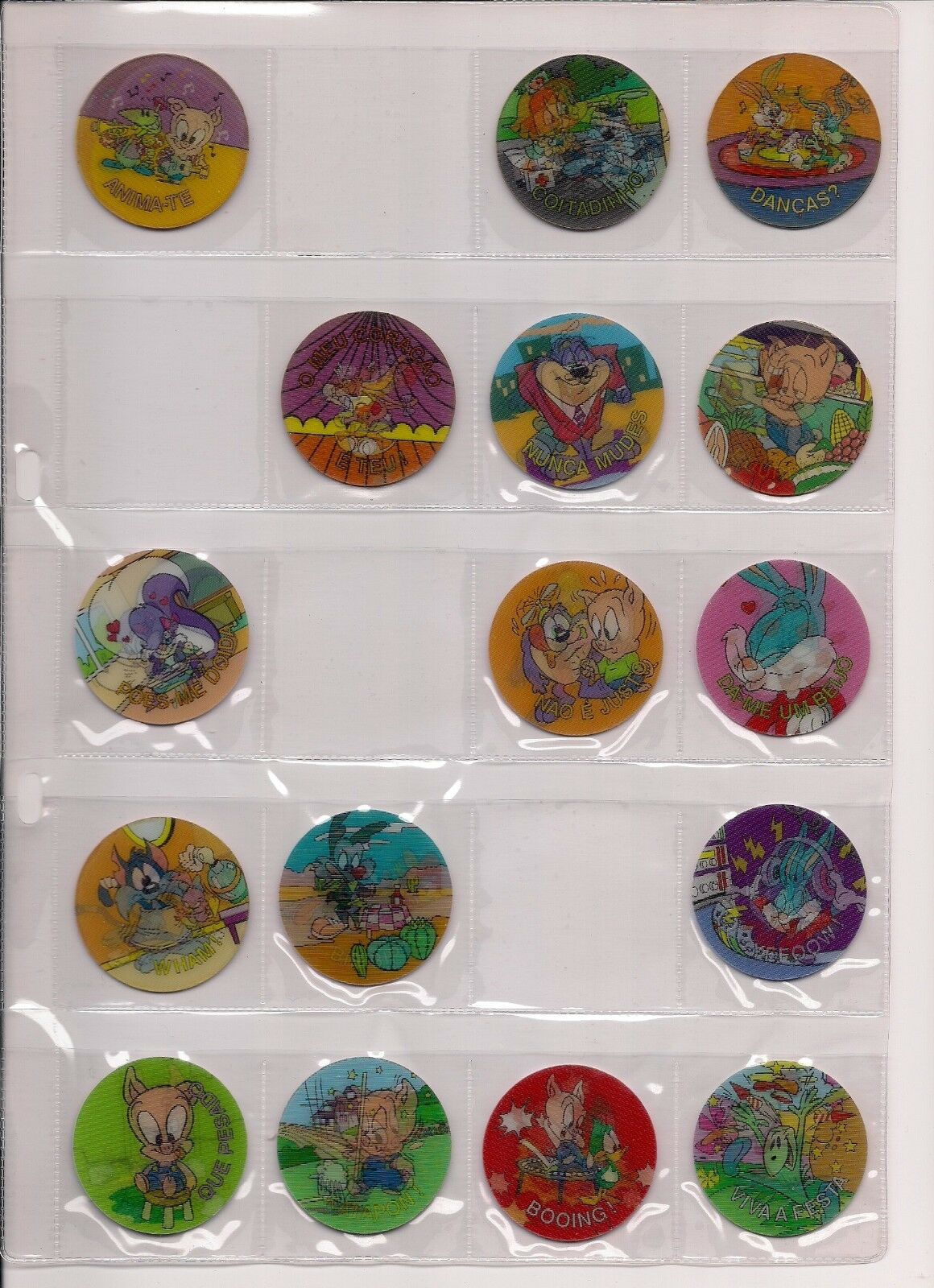 RARE Magic lenticulaire tazos POGS Lot X 16 Looney Toons matutano Portugal