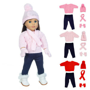 Doll-Clothes-Dress-Outfits-Pajames-For-18-inch-American-Girl-Our-Generation-Accs
