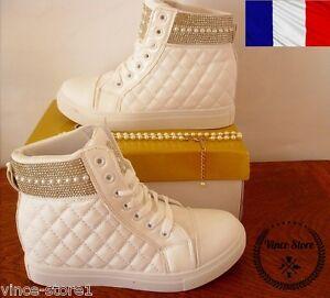 Bottine 40 Mode Chaussure Fashion Montante Baskets Femme Lux Sneakers Blanche 39 C4gFq