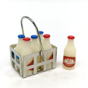 1:12 Scale Mini Milk Basket Miniature Dollhouse Decor Accessories D3H2
