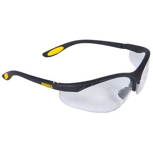DeWalt Reinforcer Safety Glasses Clear Lens with Black Frame