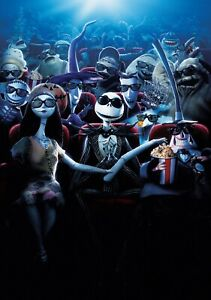 NIGHTMARE-BEFORE-CHRISTMAS-Movie-PHOTO-Print-POSTER-Jack-Skellington-Film-Art-01