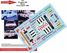 DÉCALS 1/18 réf 721 Peugeot 504 Bouin Paris Dakar 1980