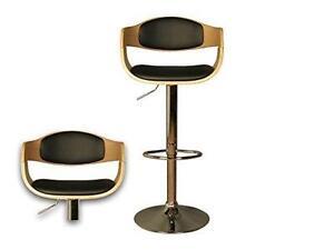 Annette bar stool gas lift bar stools oak finish kitchen
